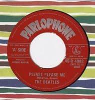 THE BEATLES Please Please Me Vinyl Record 7 Inch Parlophone 1983.